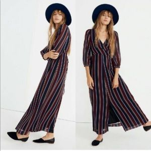 Madewell WrapAround Maxi Dress in Stockdale Stripe